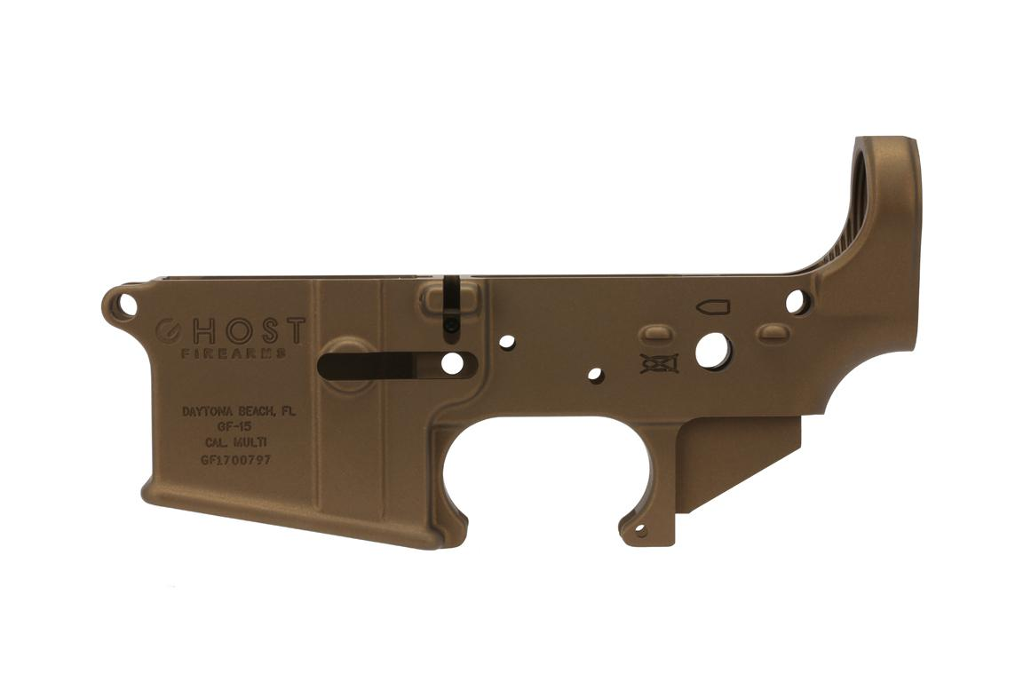 Ghost Firearms GF-15 Stripped Lower Receiver - Burnt Bronze