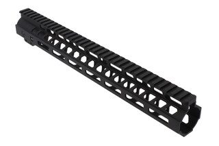 The Ghost Firearms M-LOK handguard 14 inch features a black Cerakote finish