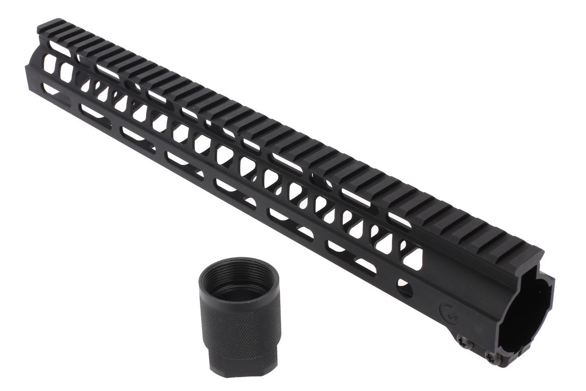 The Ghost Firearms 14 inch handguard comes with a steel barrel nut