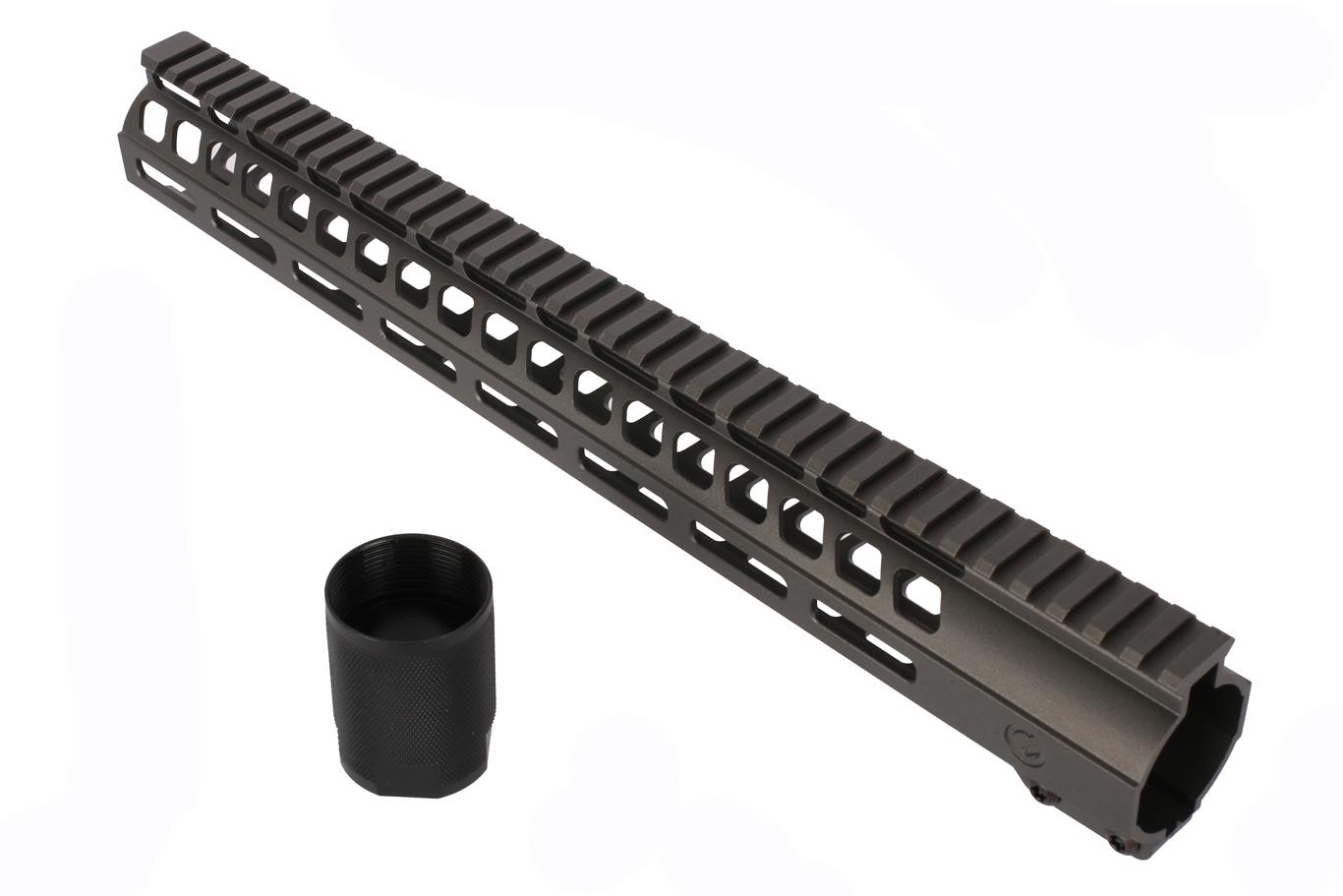 Ghost Firearms 15 M-LOK Handguard - DPMS Low - Tungsten Gray