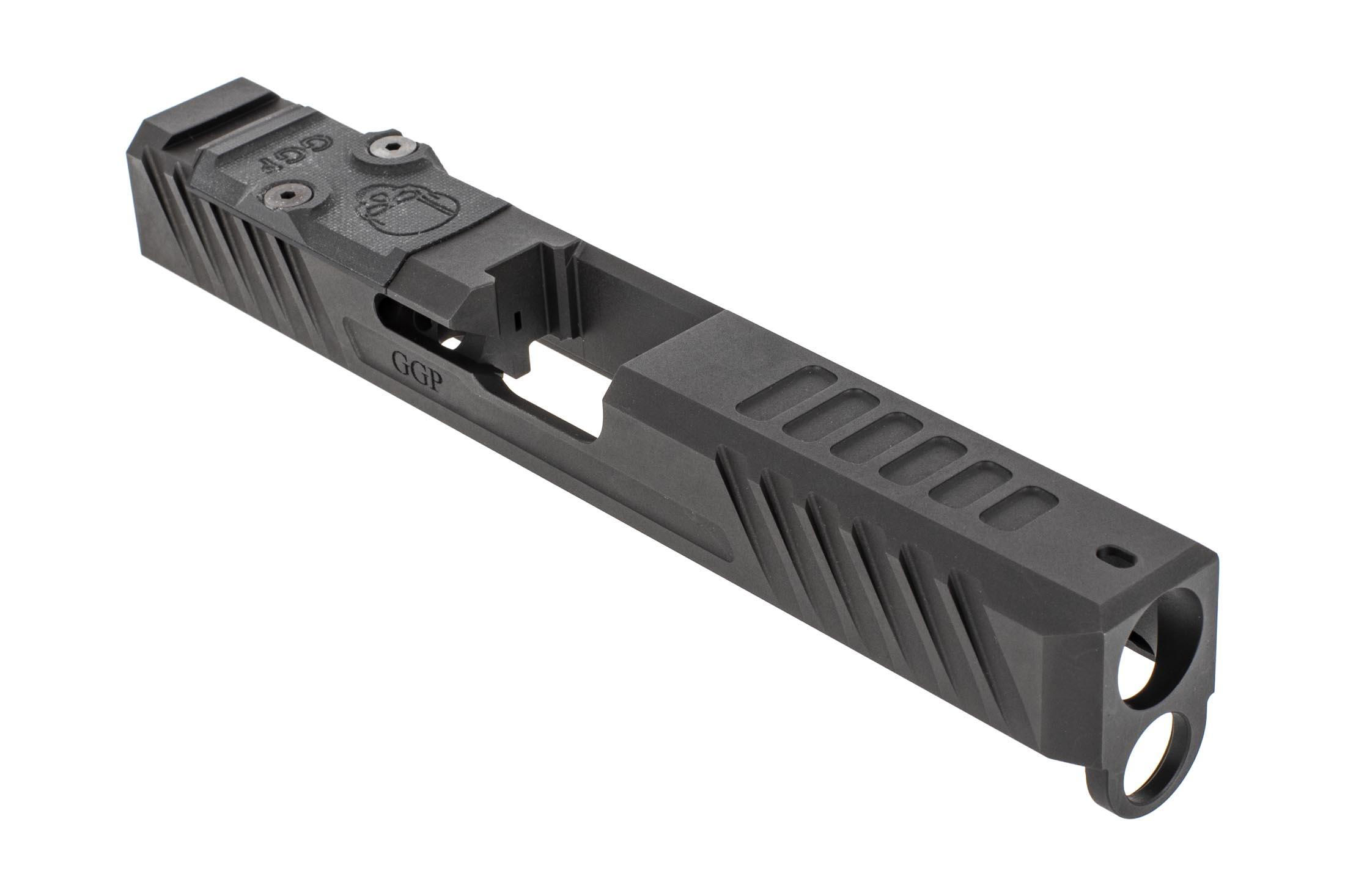 Grey Ghost Precision stripped Version3 Glock 17 Gen 4 slide with dual optic cut for RMR and DeltaPoint Pro