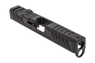 Grey Ghost Precision stripped Version3 Glock 19 Gen 4 slide with dual optic cut for RMR and DeltaPoint Pro