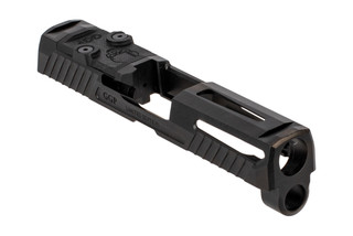 Grey Ghost Precision V1 slide for the SIG Sauer P320 Compacy features a slick black finish.