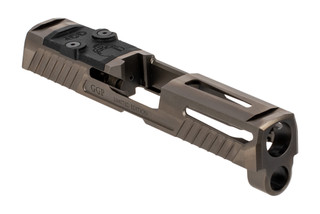 Grey Ghost Precision V1 slide for the SIG Sauer P320 Compacy features a slick grey finish.