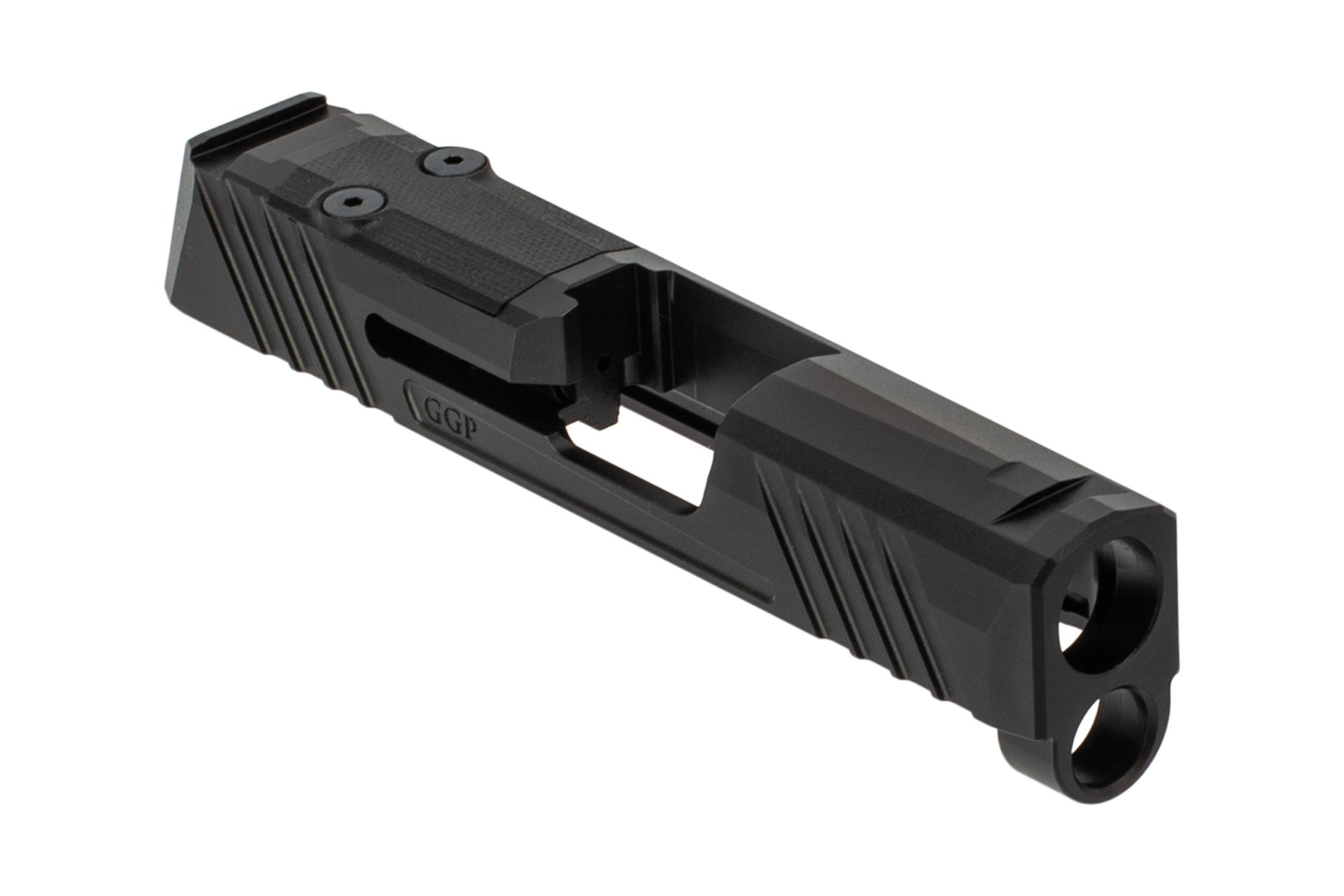 Grey Ghost Precision SIG P365 V1 Slide features a black DLC finish