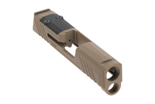 Grey Ghost Precision SIG P365 Slide V1 features a flat dark earth Cerakote finish