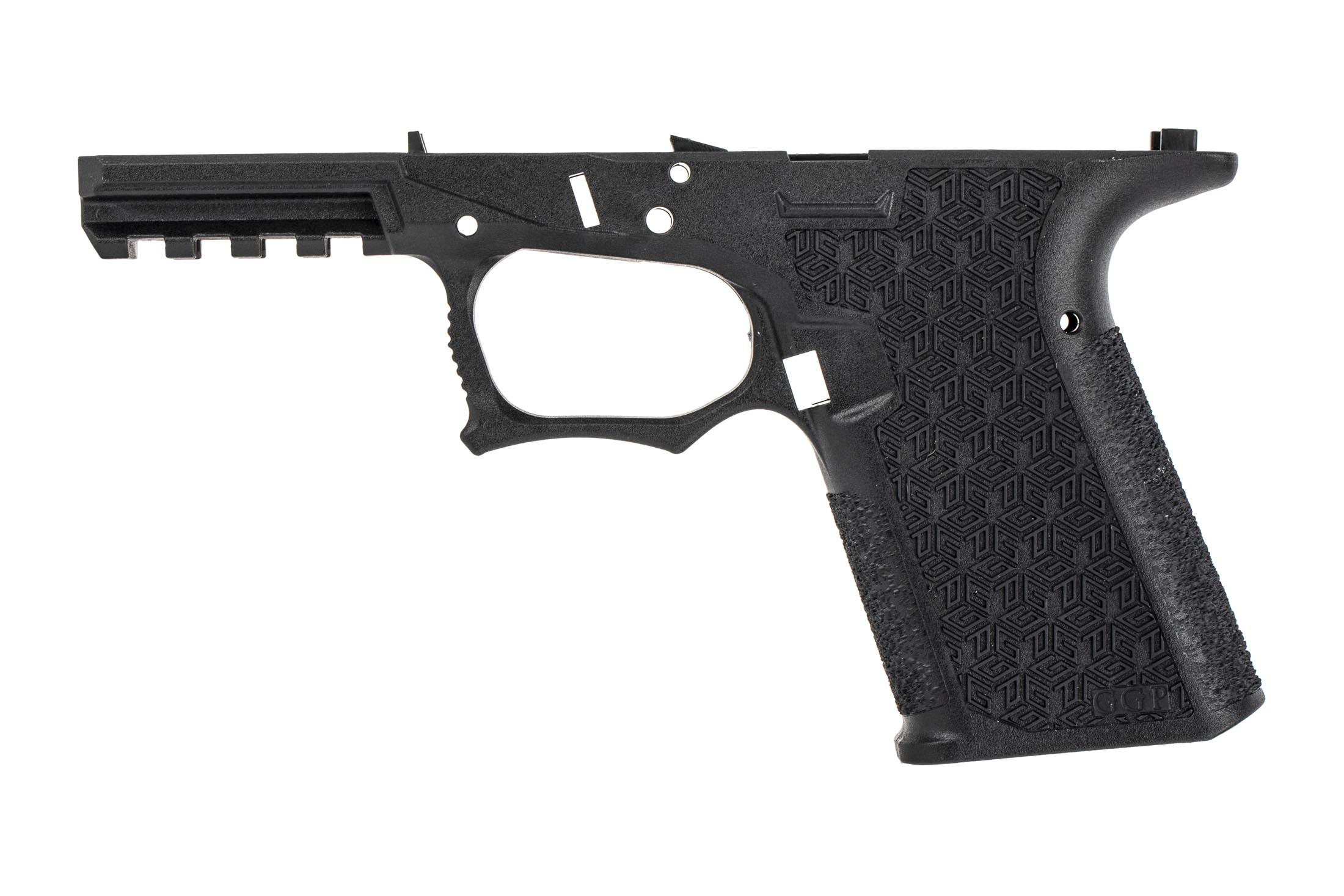 GGP reinforced polymer stripped black combat pistol frame is compatible with 15-round G19 magazines