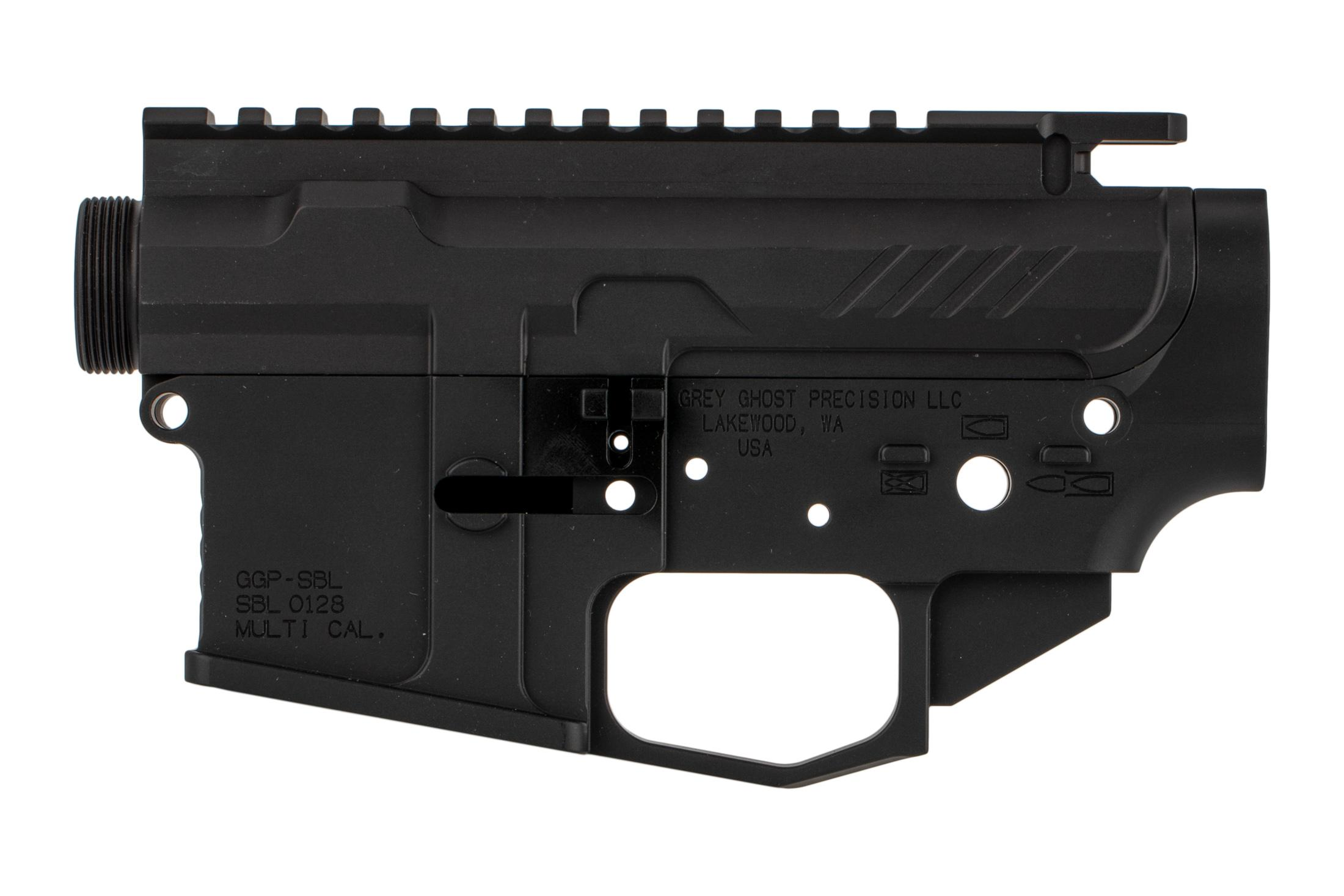 Grey Ghost Precision MKII Billet AR15 receiver set features a tough hardcoat anodized finish