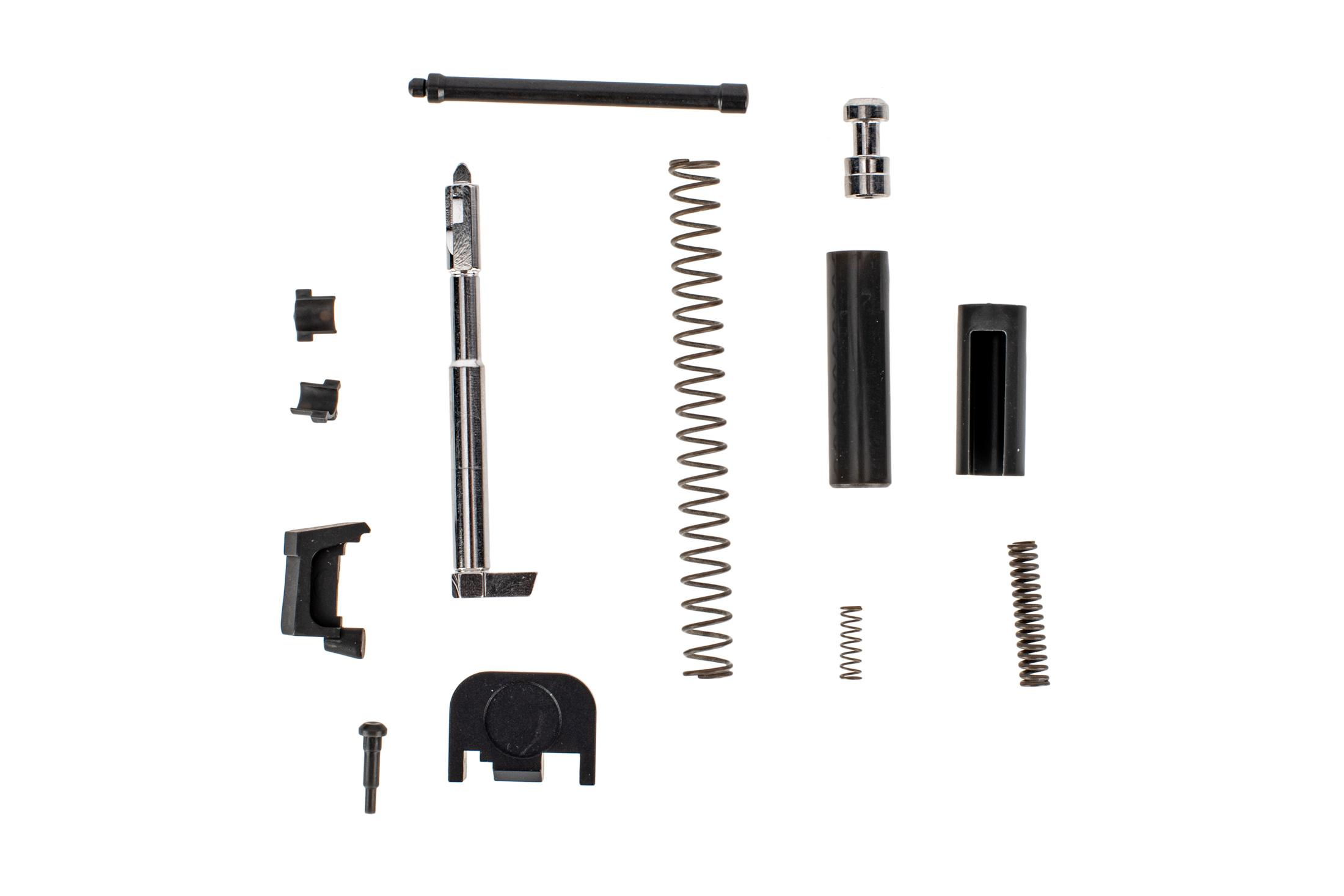 Grey Ghost Precision Glock Slide Completion Kit without guide rod contains high quality components to finish your slide
