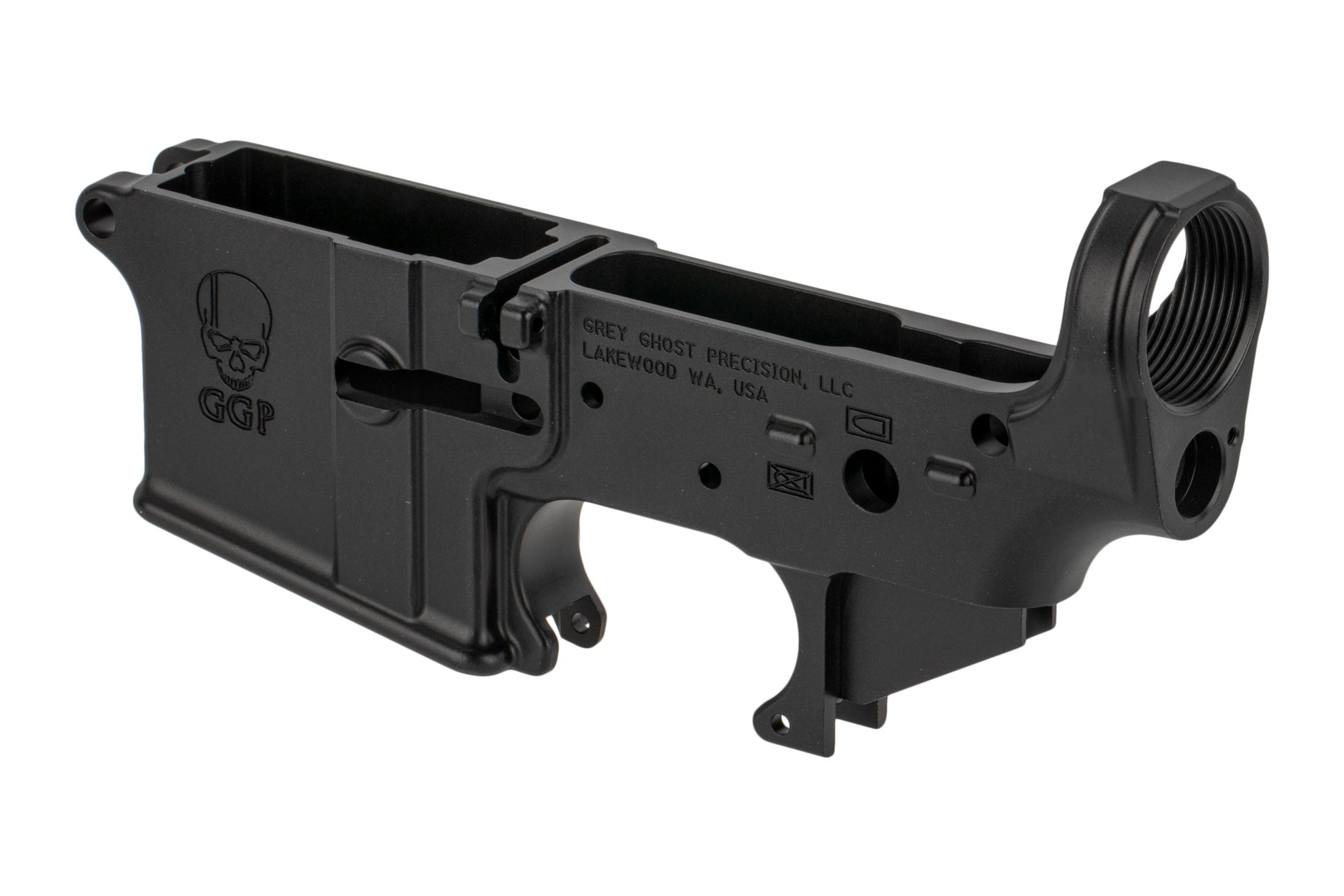 GGP's Cornerstone forged lower receiver is machined from 7075-T6 aluminum with pictogram selector markins.