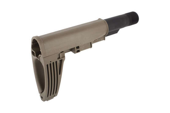 Gear Head Works flat dark earth Tailhook Mod.2 pistol brace fits AR15 pistols to provide enhanced one-handed shooting capability
