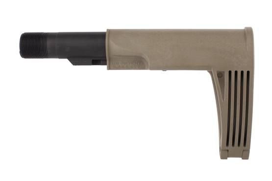 Gear Head Works FDE Tailhook Mod 2 brace installs just like a standard carbine length buffer tube
