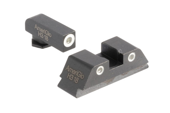 AmeriGlo classic night sights provide high-visibility white outliAmeriGlo classic night sights provide high-visines and green lamps for sight acquisition in any lighting for your large caliber Glock.