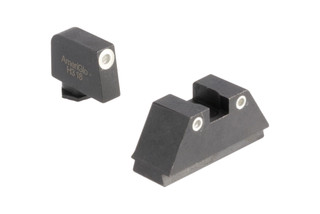 AmeriGlo suppressor height night sights with white outline are the perfect addition to your red dot equipped Glock.