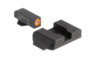 AmeriGlo Hackathron night sights for the Glock 42 and Glock 43 have a high-vis orange front sight with blacked out rear sight.