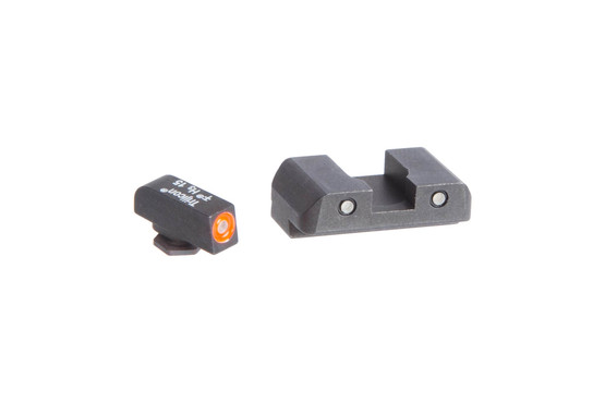 The Ameriglo Spartan Glock Tritium night sight set features a three dot arrangement with green and orange front