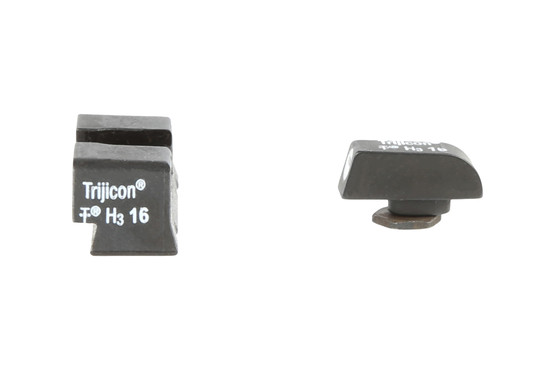 The Trijicon Bright and Tough Glock Night Sights are machined from steel with Phosphate finish