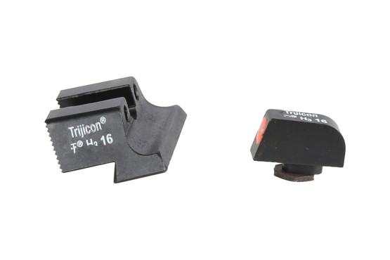 Trijicon HD night sights feature hi-vis orange outline on the front sight with a subdued rear sight offering fast acquisition