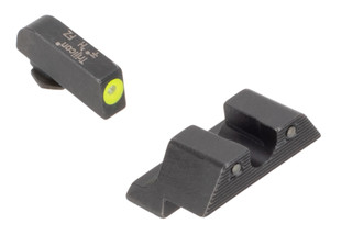 Trijicon HD yellow Night Sights fit standard 9mm and .40 cal Glock handguns with fast, hi vis sights perfect for both day and night use.