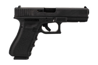 Glock Gen3 G17 full size 9mm polymer frame handgun with 10-round restricted magazines.