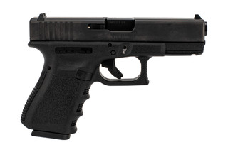 Glock Gen3 G19 compact 9mm polymer frame handgun with 10-round restricted magazines.