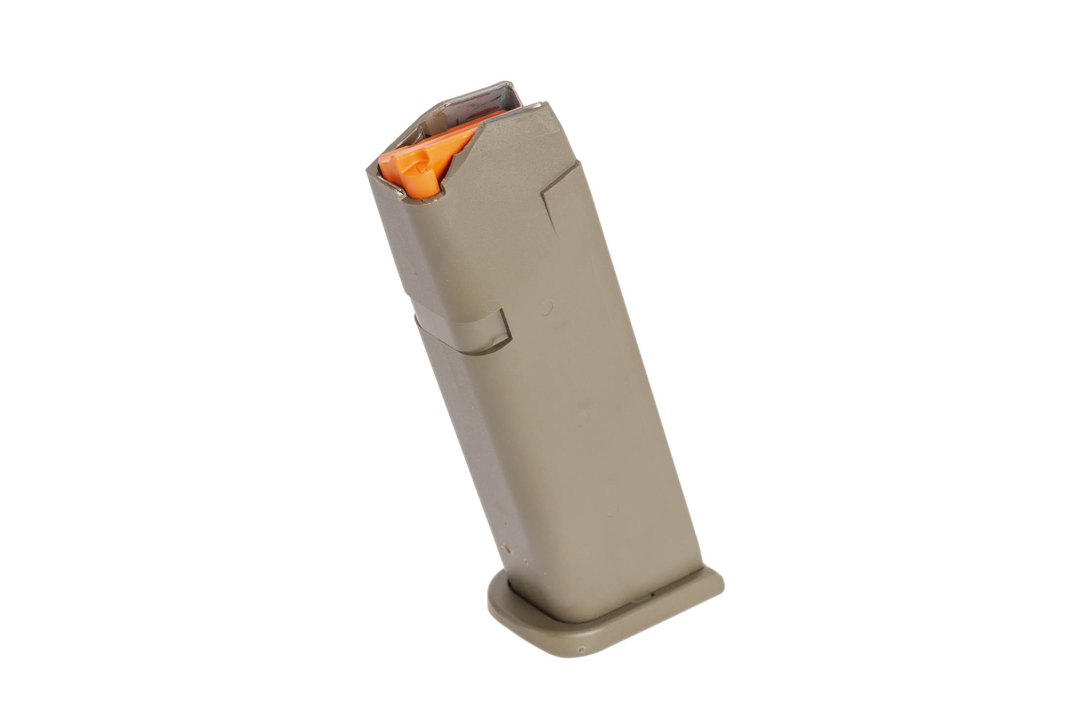 Glock odg G17 Gen 5 17-round 9mm steel reinforced polymer magazine with high visibility follower and ambi mag catch cuts