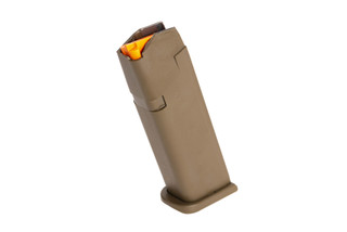 Glock G17 Gen 5 17-round 9mm steel reinforced polymer magazine with high visibility follower and ambi mag catch cuts