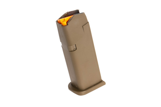 Glock G19 Gen 5 15-round 9mm steel reinforced polymer magazine with high visibility follower and ambi mag catch cuts
