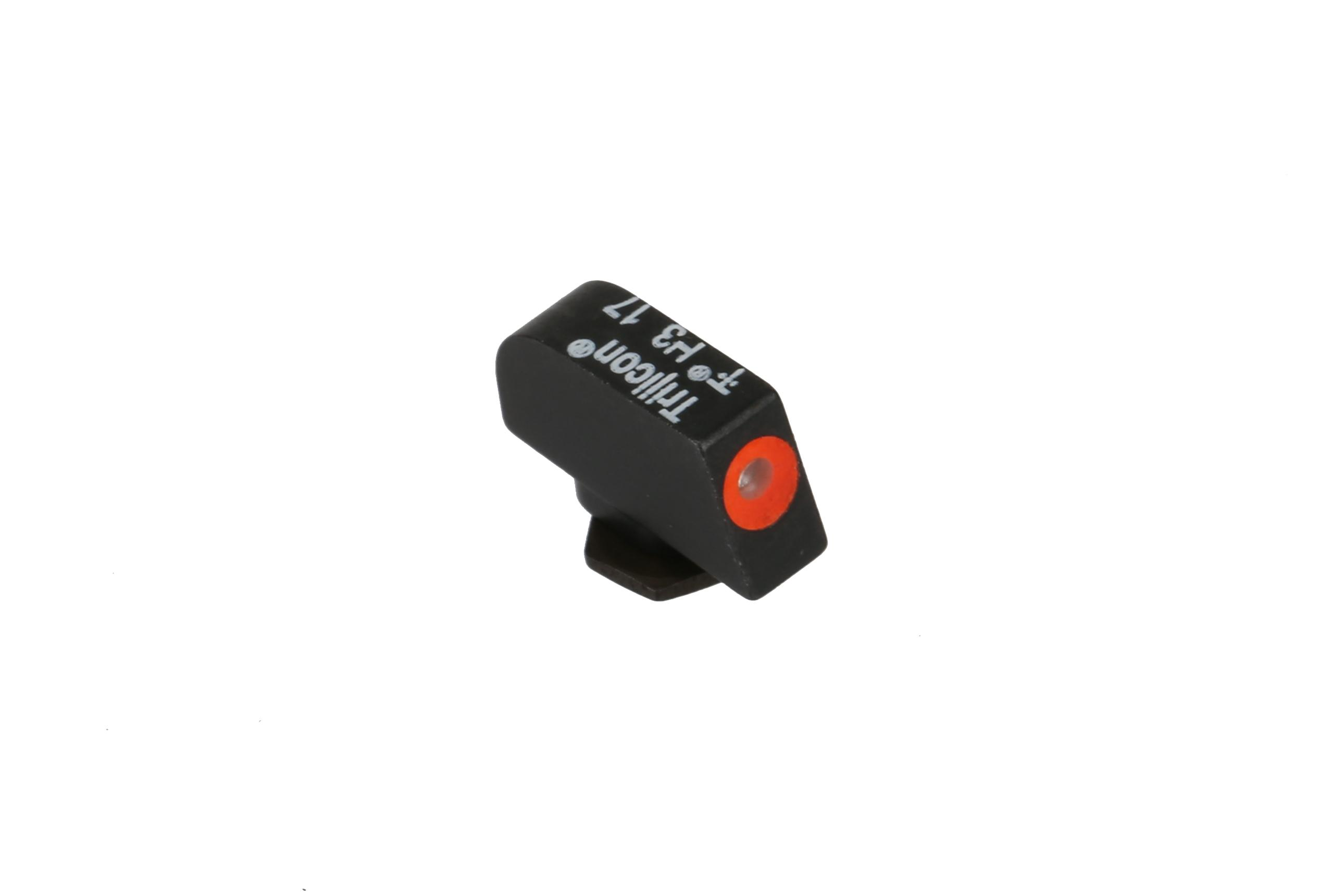 The Trijicon HD XR Glock Tritium Night sights features a traditional three dot sight arrangement