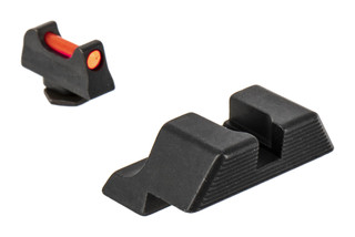 Trijicon's Fiber Sight Set for standard 10mm and .45 cal Glock handguns is a high-contrast competition and carry sight set
