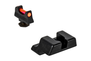 Trijicon's Fiber Sight Set for Glock G42 and G43 handguns is a high-contrast competition and carry sight set