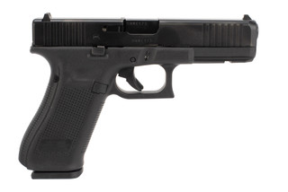 Glock 17 Gen 5 9mm Pistol features a full size black polymer frame that holds 17 rounds