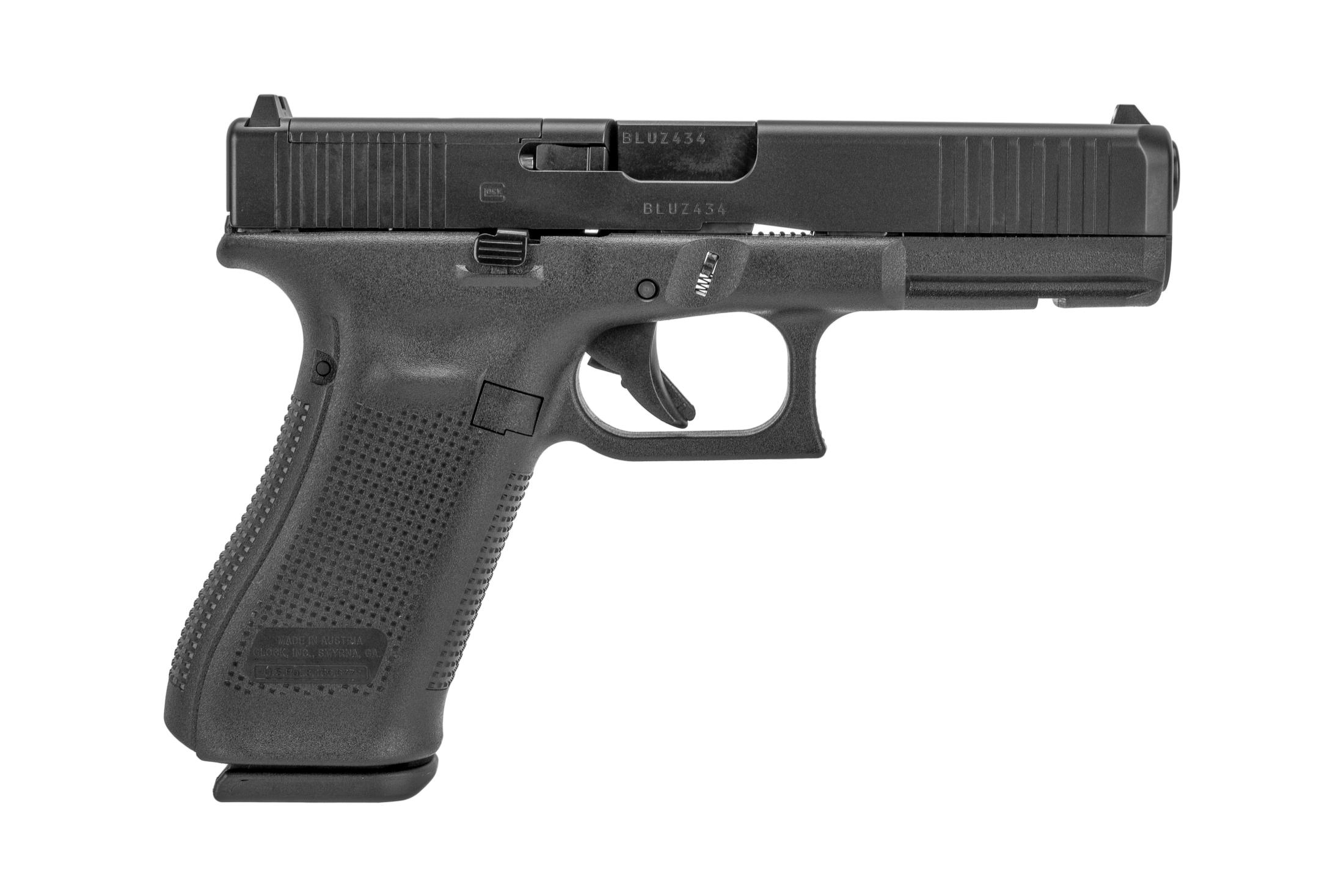 GLOCK Blue Label 17 GEN 5 MOS 9mm Fixed Sights 17RD - Black