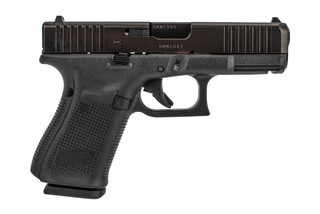 Glock G19 Gen5 with front slide serrations is a full size 15-round handgun with black polymer frame