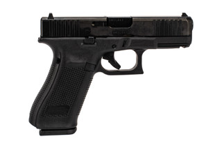 Glock G45 Gen5 MOS 9mm full size polymer frame handgun is red dot ready with standard sights and 10-round mags.