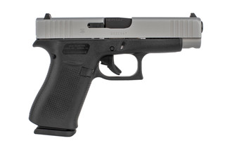 The Glock G48 compact 9mm pistol features a slim profile for concealed carry
