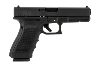 The Glock 20 Gen4 10mm pistol features multiple upgrades like the swappable backstraps and reversible mag release