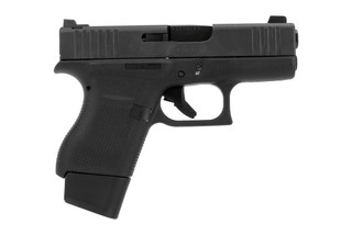 Glock G43 Vickers Tactical Special Edition subcompact handgun with AmeriGlo front sight and Vickers rear sight.