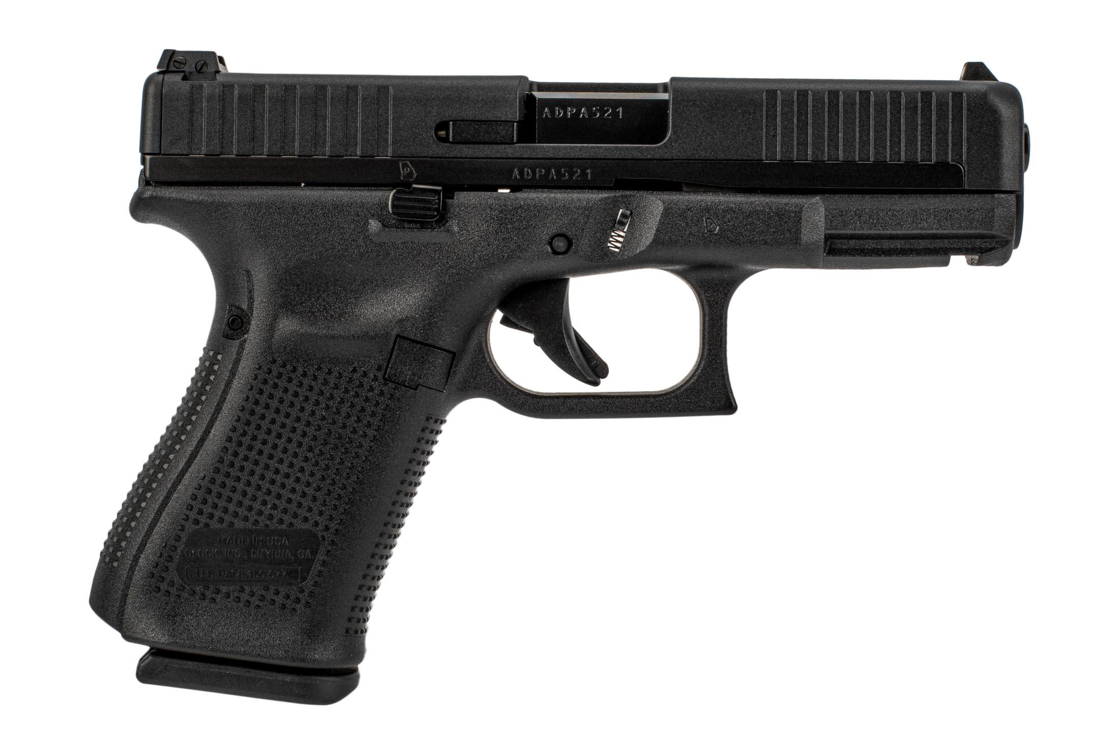 Glock 44 pistol is chambered in 22lr and features a polymer steel hybrid slide