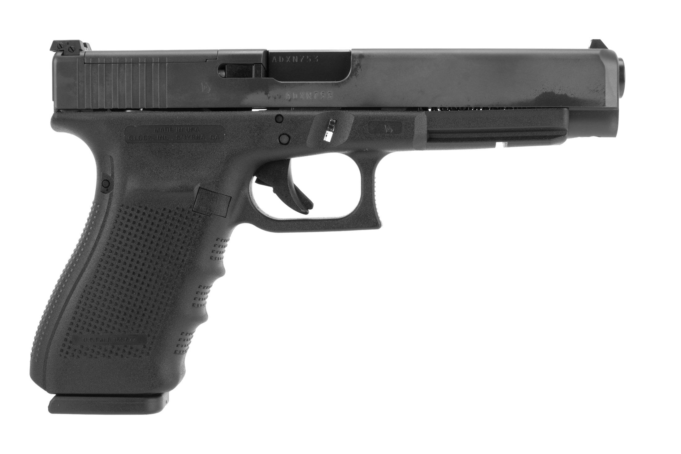 Glock Gen4 G41 MOS competition .45 ACP handgun with 5.31 barrel and 13-round magazines with optics ready slide