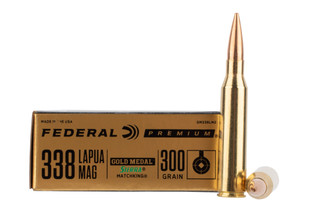 Federal Gold Medal Match 338 Lapua Magum is loaded with Sierra MatchKing bullets