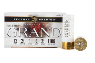 Federal Premium Grand 12 gauge ammo is loaded with #8 shot