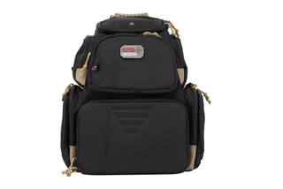 G Outdoors GPS Handgunner backpack comes in a tan and black colorway
