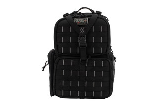 G.P.S. Tactical Range Backpack in Black features durable 1000 denier nylon