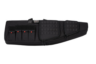 G Outdoors GPS AR double rifle case comes in black