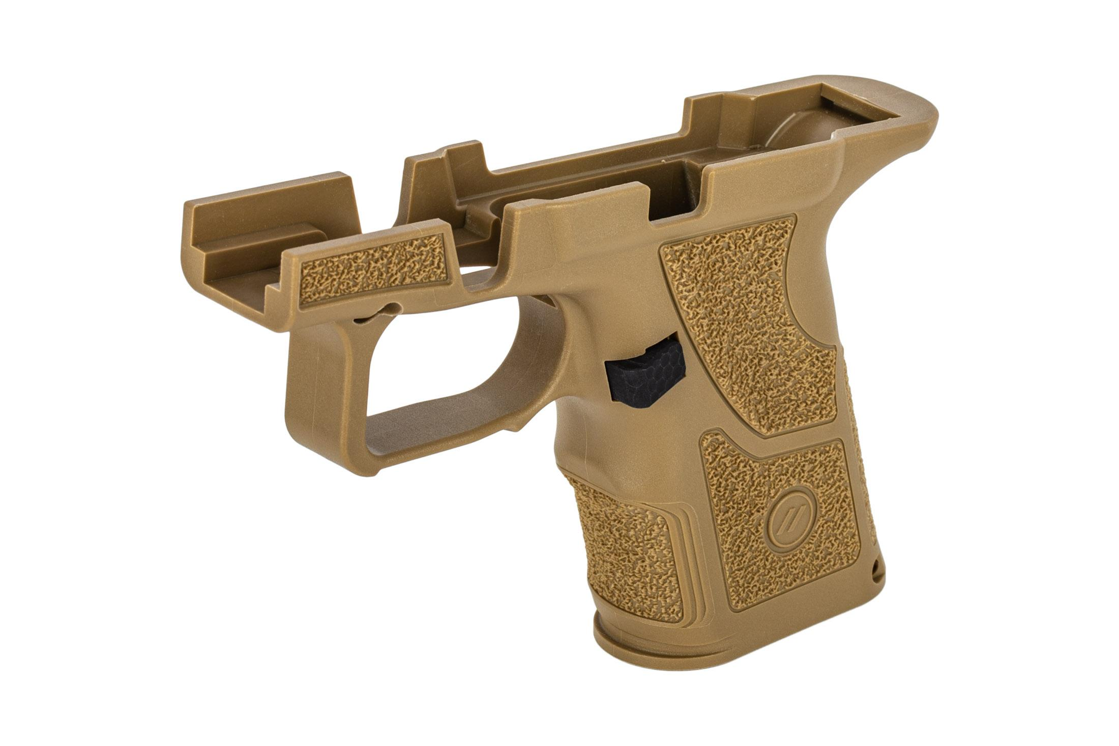 Zev Technologies OZ9c Compact Grip Kit comes with a magazine release installed