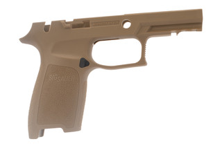 Sig Sauer medium carry coyote grip shell for P250 / P320 x-series 9mm offers an ergonomic grip in a durable polymer frame