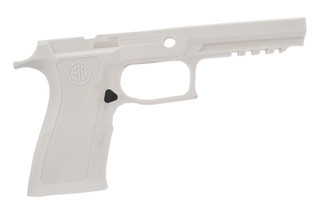 Sig Sauer medium full size white grip shell for P250 / P320 x-series 9mm offers an ergonomic grip in a durable polymer frame