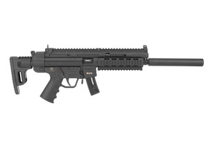 ATI GSG 16 .22LR Rifle features a collapsible stock and Picatinny handguard