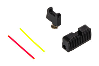 The Taran Tactical Fiber Optic Sight Set for Glock MOS platform is machined from steel
